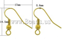 Free shipping!!!Iron Hook Earwire,2013 new european and american style, gold color plated, nickel, lead & cadmium free
