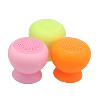 Mini protable Bluetooth Speaker Wireless colorful Mushroom Suction-cup speakers with MIC calls Handsfree  100pcs/lot free DHL