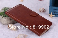 High Quality Crazy Horse pattern PU Leather case for N7100 Galaxy Note 2 ii Stand Luxury Wallet Credit Card holder