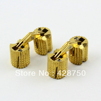8PCS/Lot HIDDEN HINGE INVISIBLE HINGE BARREL CONCEALED HINGE 8MM  - BRASS