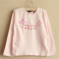Children's clothing long-sleeve female child o-neck long-sleeve T-shirt female child basic shirt