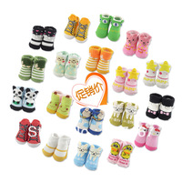 free shipping 2013 autumn animal style socks newborn baby socks three-dimensional socks 7-9cm for 0-3 months children.4pairs/lot