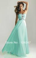 Free Shippng 2013 Empire Keyhole Sweetheart Beading strapless chiffon Bodice Floor-Length Prom Dresses XT-003