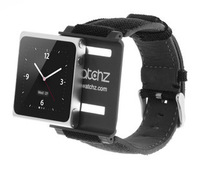 2013 Newest Army style IWATCHZ FORCE Nylon+metal watch band for IPOD NANO6 with retail package FREESHIPPING