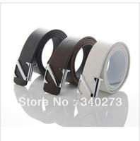 Free shiping 1PCS---Fashion Faux Leather Premium N Shape Metal Mens strap man Ceinture Buckle Belt men's belt   T005