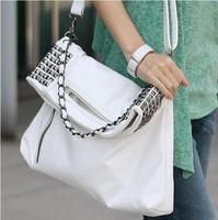 2014 new winter women's handbag rivet chain fashion vintage bag women messenger bags shoulder bag Free shipping