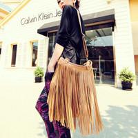 HOT!!!2014 women's TASSEL CROSS BODY BAG handbag vintage fashion one shoulder messenger bag