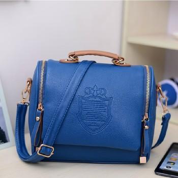Women's handbag 2013 candy color double zipper women's handbag vintage messenger bag