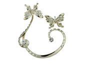 Korea Hot Fashion personality super cute butterfly earrings ear clip jewelry  C232