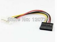 Free shipping 10pcs 10 Atx Molex IDE 4Pin TO Serial Ata Sata Power Adaptor Cable