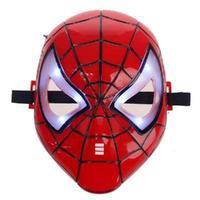 LED Shiny Spiderman/Spider Man Mask Eyes/Halloween/Christmas/Masquerade Mask/Cosplay/Make up Toy