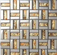 Crystal Glass Tiles Sheet plating Mosaic Art Wall Stickers Kitchen Backsplash Tile Design Bathroom Shower Floor Bedroom Washroom