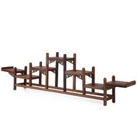 Wenge shelf mahogany erudition stone rack teapot base prabhutaratna rack 1311