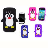 Penguin Silicone Soft Case Cover for Samsung Galaxy S4 Mini i9190+Free Screen Protector