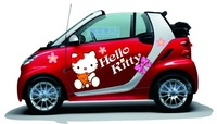 Kitty cat car stickers hellokitty body stickers smart car cartoon personality