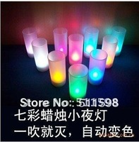 Free shipping Voice control Pillar LED Candle lights
