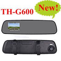 HD rear view mirror recorder 1920x1080p 5.0MP Car DVR 720p 30fps Camera video registrator dash camcorder TH-G600 TF card Russia
