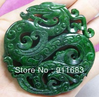 Free shipping wholesale Arts collection CHINESE old jade dragon pendant gifts crafts