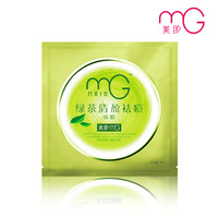 10 pcs face Beauty green tea acne  25g mg mask milk