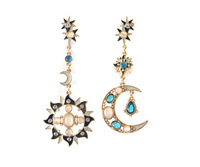 E011quality Helios Luna romantic earring Moon star TS-15