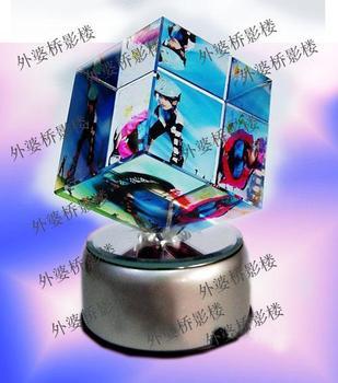 Crystal gift rotating 80 big colorful magic cube birthday gift wedding gift