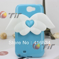 Cheap Angel wings style tpu back cover case for samsung galaxy s4 i9500 free shipping,5 colors