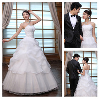 ON Sale 2012 suzhou wedding dress formal dress princess bridal tube top wedding dress  hot