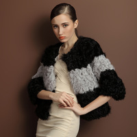 2013 New Fashion Lamb Wool Jacket For women,Whole Hide Sheep Fur Jacket Free Shipping