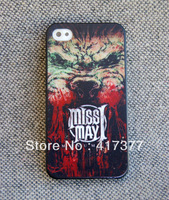 CPAM FREE SHIPPING Miss May I Forever remember This Heavy Metal Case for iPhone 4 4G 4S Cover