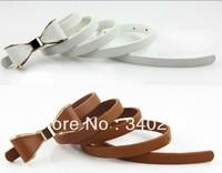 3PCS---Lady's Slender waist belt han phnom penh bowknot slender waist belt female new belt women fashion thin belts for women