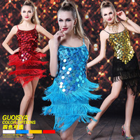 Guoisya Christmas clothes square dance Latin dance one-piece dress clothes dance performance wear