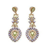 EA583 light purple accessories earring long water drop TP-11.99