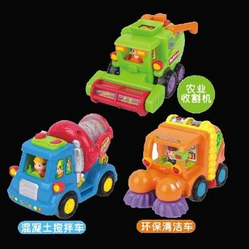Department of music cartoon car 386 engineering car mixer harvestable clean car road sweeper inertia car toy
