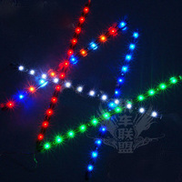 Car motorcycle scooter refires lighting colorful fashion led strip color is  Free shipping