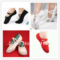 Free Shopping - New Adult Ballet Dance Shoes Slippers Canvas Leather Shoes US Size 5-10