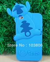 Cute 3D Stitch Silicone Cover Case for Apple iPod Touch 4G 4 4th  Blue