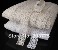 chengpin new 50 yards 3.5cm width in white color beautiful origional wave cotton/cluny lace trim