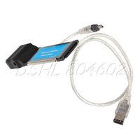 Laptop ExpressCard 34mm to 2 Port FireWire IEEE 1394A USB 2.0 Express Card