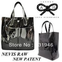 free shipping  wholesale handbag    Anya Hindmarch patent leather  totes handbag   anya hindmarch