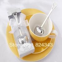 2013 New Arrival Heart Tea Infuser in Elegant White Gift Box Heart Shape Tea Strainer +100sets/Lot