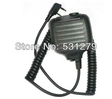 5pcs/lot Handheld PTT Speaker Mic FOR KENWOOD Radios walkie talkie accessories 2 PIN For Ham Radio C507