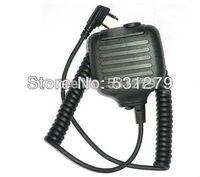 5pcs/lot Handheld PTT Speaker Mic FOR KENWOOD Radios walkie talkie accessories 2 PIN For Ham Radio C507