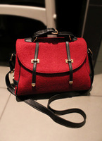 2013 spring and summer women's trend handbag vintage messenger bag woolen bag one shoulder bag handbag women's handbag