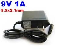 DHL free shipping DC 9V 1A Power Supply Adaptor 9V Security professional Converter 5.5x2.1mm EU US UK,AU Plug