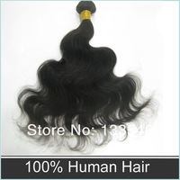 "Free Shipping Black Brazilian Virgin Hair Body Wave 3pcs Lot 14""-30"" Queen Hair Products Cheap Human Hair Weave Online"