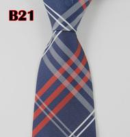 Free shipping 100% Silk Stripe Tie Necktie Classic Man's Ties Necktie Men's suits tie Necktie Wide stripe gray and red  B21