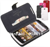 Original Doormoon Side Open Genuine Leather Case For Lenovo S920 With Card Slot, Free Shipping