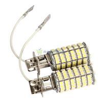 2X H3 120 SMD 3528 DC 12V Car LED White Light Fog Light Headlight Lamp Bulb S7NF