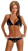 Free Shipping!Fasion Sexy Hot  Black Woman Cheap yet High Quality Bikini Wholesale and Retail3095