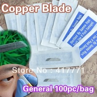 100pcs/bag  Silver Blade  For Permanent Makeup  Supply  Machine Pen  Free Shipping
